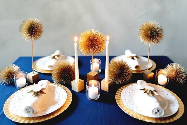 Lembrando que este centro de mesa fácil e barato pode ter a cor que você desejar (Foto: ruffledblog.com)