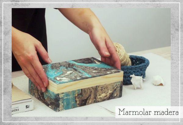Decorar caixa de madeira com tinta em spray vai criar um efeito lindo e que vai fazer muito sucesso (Foto: diy.2ndfunniestthing.com)