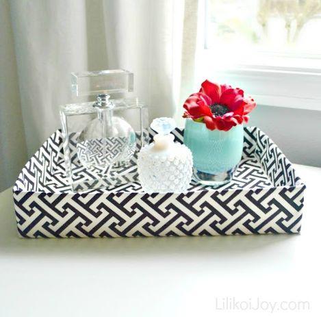 Esta decoração com caixa é versátil e qualquer ambiente de seu lar pode recebê-la (Foto: lilikoijoy.com)