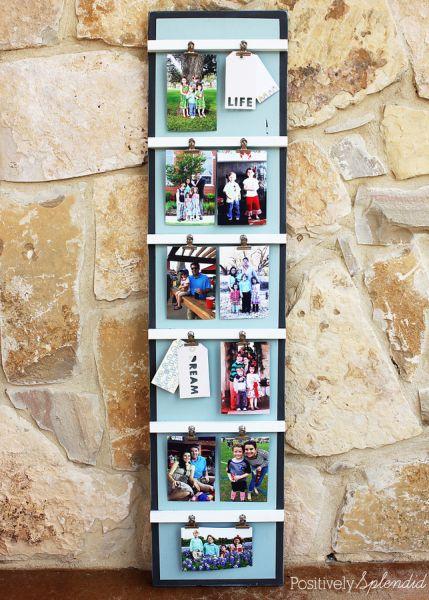 Este porta recados e fotos decorativo pode ter as cores que você quiser (Foto: positivelysplendid.com)