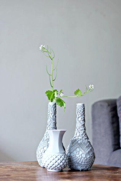Todos vão amar este lindo artesanato simples com renda (Foto: lanaredstudio.com)