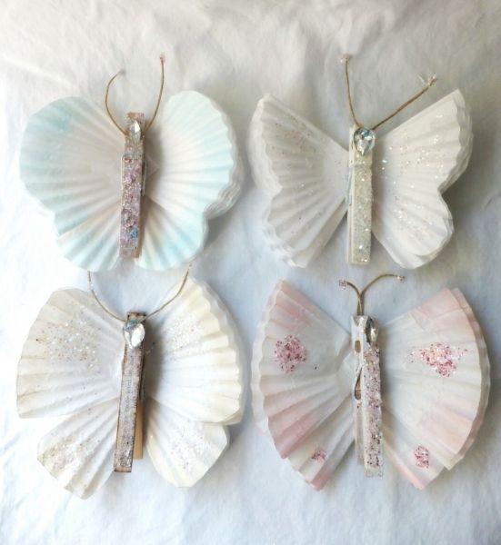 Estes artesanatos feitos com forminha de papel podem enfeitar até a sua festa (Foto: bluepurpleandscarlett.com)