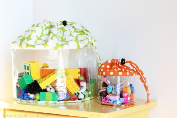 Este modelo de bolsa para guardar brinquedos é lindo e diferente (Foto: makeit-loveit.com)