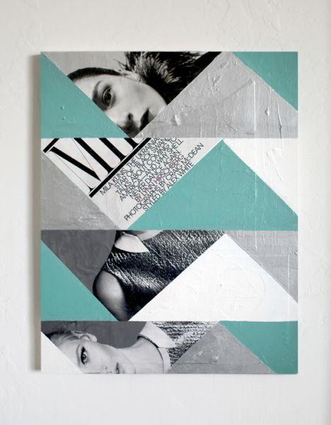Este quadro decorativo com revistas pode ter o modelo e o estilo que você desejar (Foto: promisetangemanblog.com)