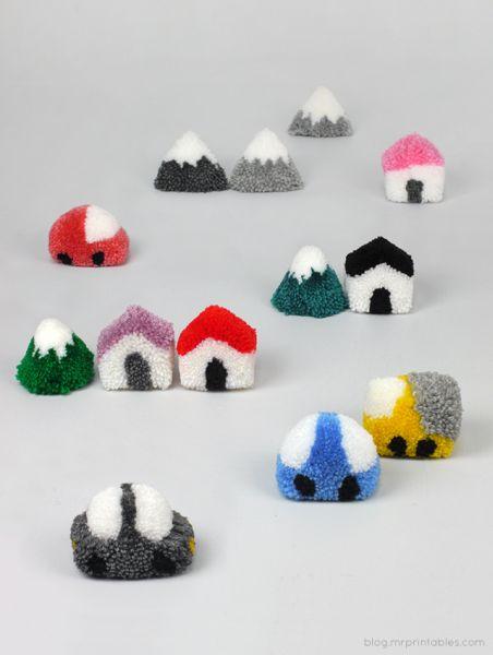 Ideias de artesanatos rápidos para fazer com pompom não faltam (Foto: blog.mrprintables.com)