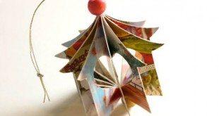 Há lindas ideias de enfeites de Natal para fazer com papel, escolha a sua preferida (Foto: parentmap.com)