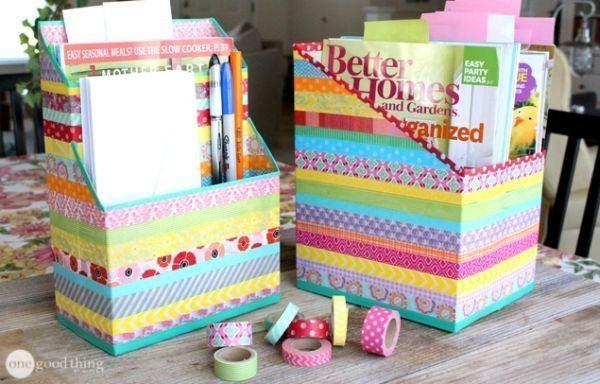 Faça organizadores de material reciclado para decorar, além de organizar (Foto: onegoodthingbyjillee.com)