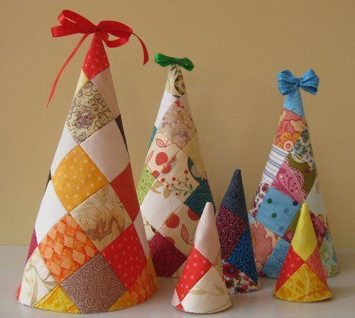 Esta linda árvore de Natal feita de patchwork é também sustentável (Foto: mypatchwork.wordpress.com)