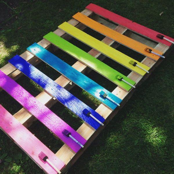 Como Decorar Jardim Com Paletes Passo A Passo Artesanato