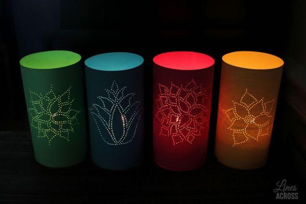 Estas lanternas de papel são sofisticadas e nem parecem que foram feitas de um material tão barato (Foto: linesacross.com)