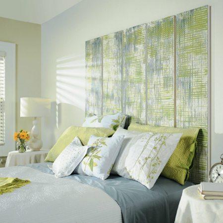 Este painel de cabeceira pode ter o estilo e cores que você preferir (Foto: home-dzine.co.za)