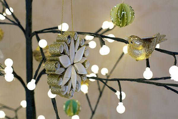 enfeites de natal para jardim passo a passo : enfeites de natal para jardim passo a passo: de Enfeite de Papel para Árvore de Natal – Artesanato passo a passo