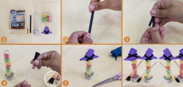 Artesanato Em Madeira De Demolição ~ Lembrancinhas para Festa de Halloween Ideias, Dicas Artesanato Passo a Passo!