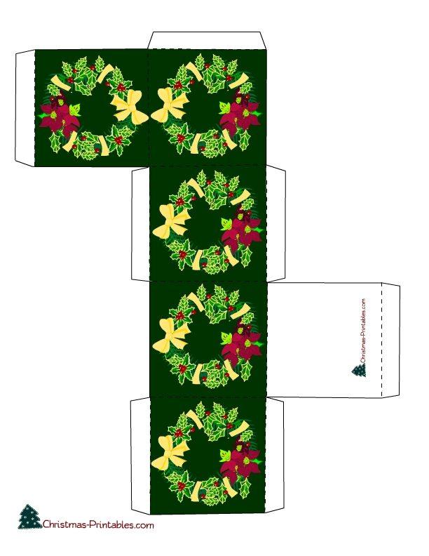 Moldes De Caixinhas Para Lembrancinhas De Natal Para Imprimir