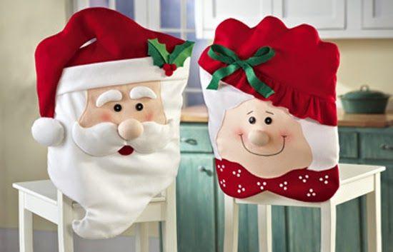 Os enfeites natalinos para cadeiras são diferentes e lindos (Foto: veramoraes.com.br)