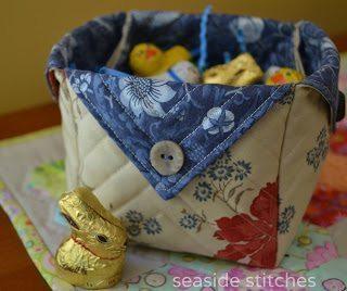 Esta caixinha de tecido pode ter o tamanho que você desejar (Foto: seaside-stitches.blogspot.fr)