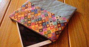 Este case para tablet de tecido com zíper pode ter a combinação de cores ou estampas que você desejar (Foto: minhasinger.com.br)