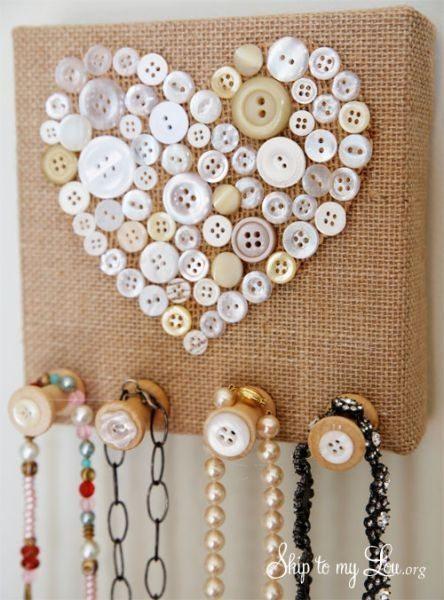Suporte para pendurar colares é lindo e todos adoram (Foto: skiptomylou.org)