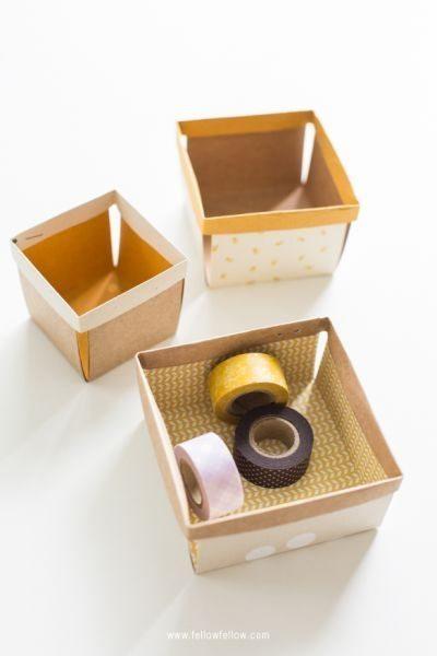 Escolha a cor ou estampa preferida para fazer esta cestinha de papel (Foto: fellowfellow.com)