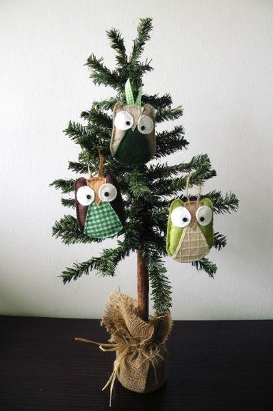 Esta fofa coruja para árvore de Natal é simpática e vai faze o maior sucesso em sua casa (Foto: heartmadeblog.com)