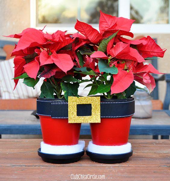 Esta decoração de Natal com vasos vai encantar a todos (Foto: club.chicacircle.com)