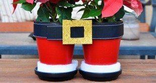 Decoração de Natal com Vasos Passo a Passo