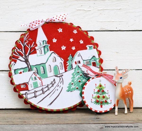 Enfeites de Natal com tecido podem ter o estilo que você desejar (Foto: mysocalledcraftylife.com)