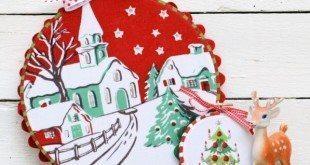 Enfeites de Natal com Tecido Passo a Passo