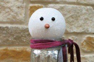 Ideia para Fazer um Boneco de Neve Gastando Pouco