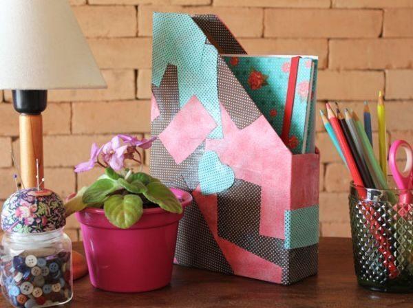 Organizador de papéis de caixa de cereal é lindo, útil e barato (Foto: blog.elo7.com.br)