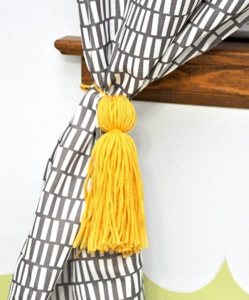 Escolha a sua cor preferida e faça o seu prendedor de cortina simples e rápido (Foto: diycandy.com)