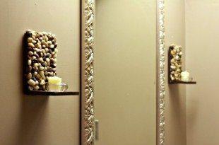 Este suporte de vela para parede é lindo e diferente, mas não muito difícil de ser feito (Foto: thenoshery.com)