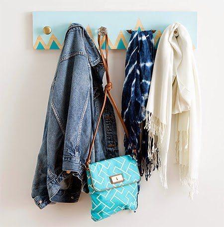Este cabideiro de parede pode ter o estilo que você desejar (Foto: acasaehsua.com.br)