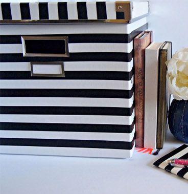 Decorar caixa organizadora com fita é muito fácil (Foto: buladaarquitetura.tnh1.com.br)