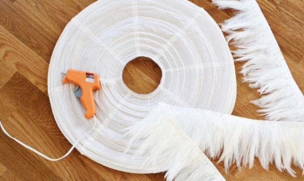 Como decorar uma lumin ria de papel arroz passo a passo - Papel de arroz para decorar muebles ...