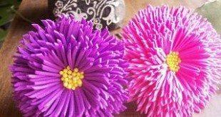 Flor de EVA Simples com Passo a Passo