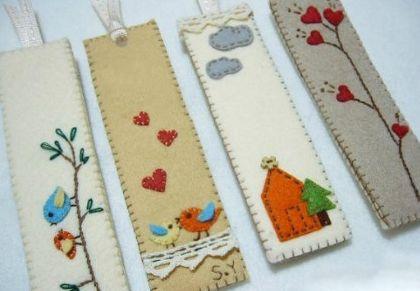 Invista nesta linda ideia simples para fazer marcador de livros em feltro (Foto: polkapics.net)
