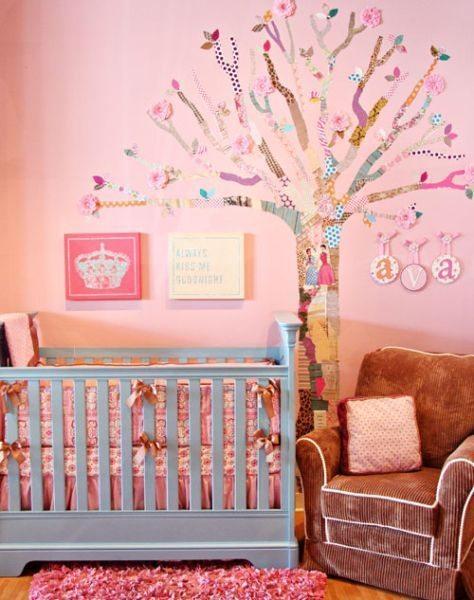 Ideia para decorar parede com decoupage não falta, escolha a sua preferida (Foto: projectnursery.com)