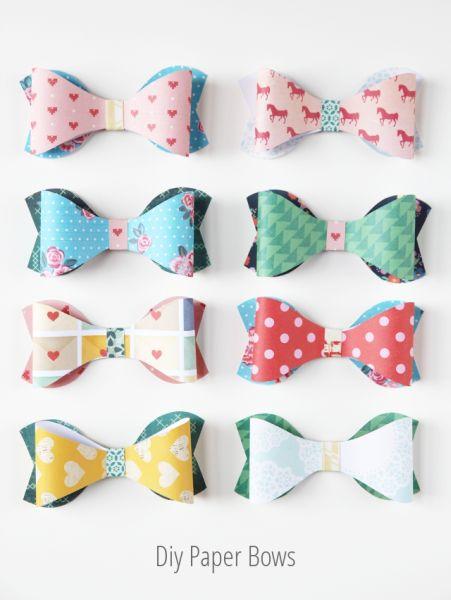 Laços de papel podem ter a cor ou a estampa que você quiser e enfeitar a peça que você quiser (Foto: gatheringbeauty.com)