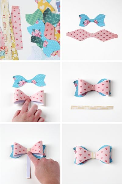 how to make a bow tie out of paper easy
