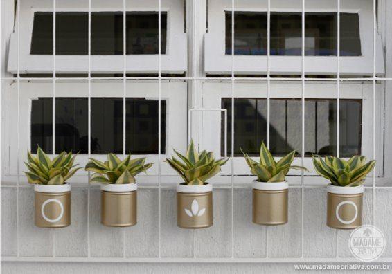 Potes de Herbalife decorados podem ter a sua personalidade impressa neles (Foto: madamecriativa.com.br)