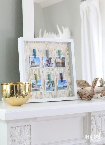 Há vários quadros decorativos com fotos, escolha o seu preferido (Foto: inspiredbycharm.com)