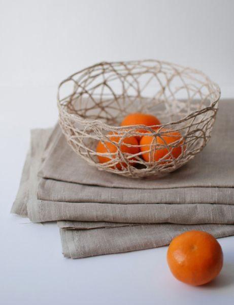 Este artesanato com sisal pode também ser utilizado na sala, sozinho ou com objetos decorativos dentro (Foto: crafts.tutsplus.com)