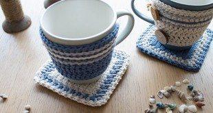 Este artesanato de crochê para xícara é lindo e útil (Foto: crafts.tutsplus.com)