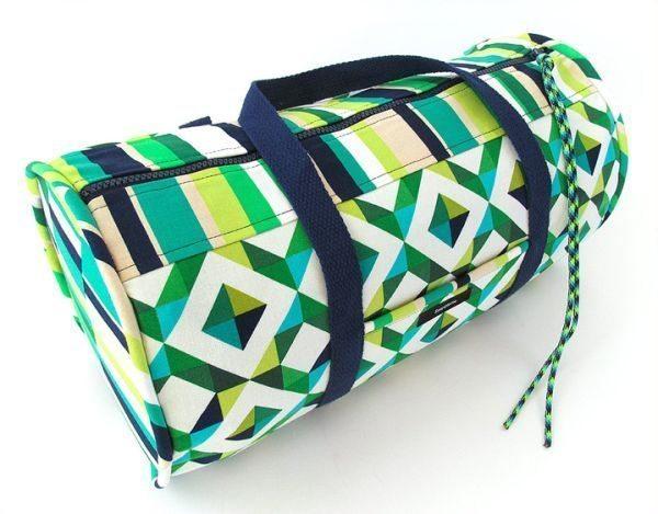 Bolsa Feita Com Tecido De Sombrinha : Bolsa de gin?stica em tecido passo a artesanato