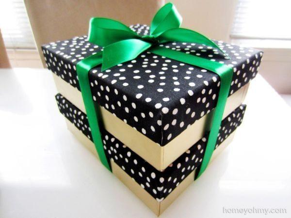 Invista sem medos nesta linda e barata ideia simples para aproveitar caixas de sapato (Foto: homeyohmy.com)