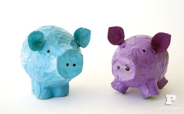 Porquinho de papel machê é fofo e barato (Foto: thesoutherninstitute.com)