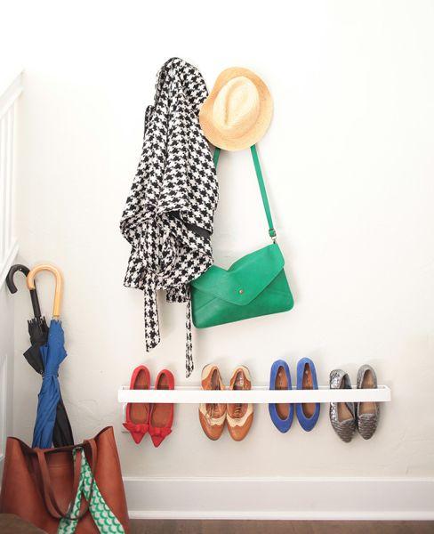 Este organizador de sapatos pode também ser colorido (Foto: stylebyemilyhenderson.com)