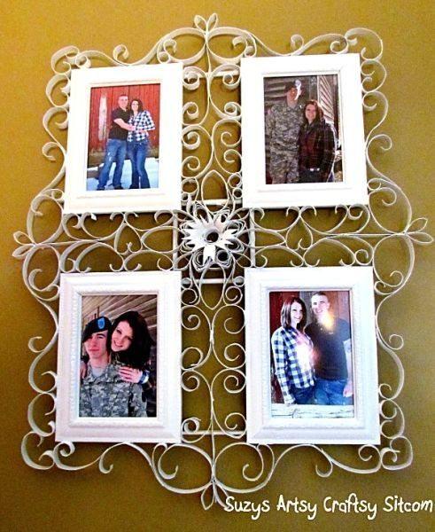Este painel de fotos é lindo e muito barato (Foto: suzyssitcom.com)
