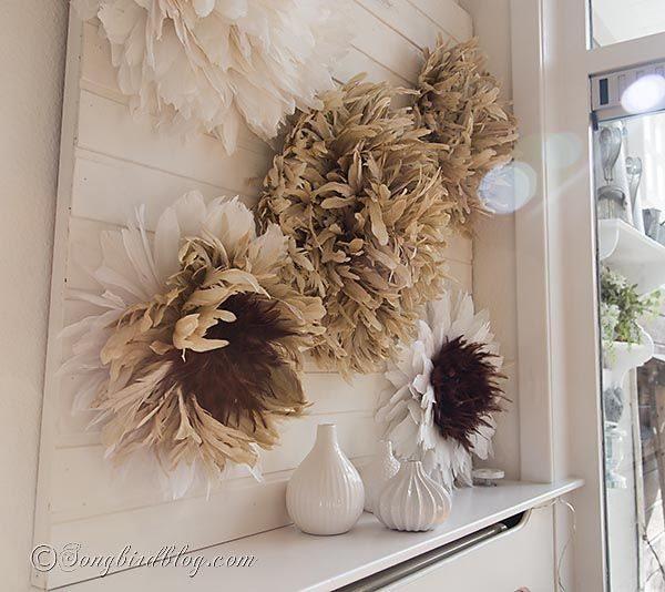 Com este artesanato com penas a sua decoração nunca mais será a mesma (Foto: songbirdblog.com)